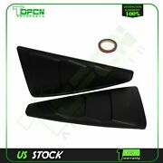 For 05-14 Ford Mustang 1/4 Quarter Black Side Window Louvers Scoop Cover Vent