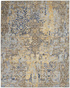 Nourison Majestic Beige And Blue 9and0396 X 12and0398 Rectangle Area Rug 099446712998