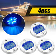 4white Round Vehicle Boat Led Stern Lights Cabin Deck Courtesy Light Waterproof
