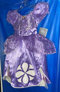 The Disney Store Sofia The First Costume Dress Size 4 New W Tag
