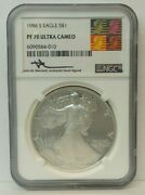 1986 S Silver American Eagle - Ngc Pf 70 Ultra Cameo - H3141