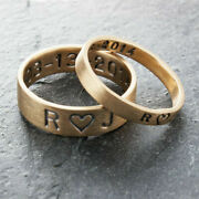 Solid 18k Rose Gold Ring Wedding Couple Band All Size Available For Valentines