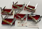Case Xx Complete Classic Humpback Whittler 6 Knife Set-serial 0733 5-63046