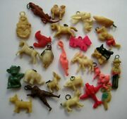 1940and039s Vintage Cracker Jack Celluloid Charm Premium Toy Prize Lot Of 25 3