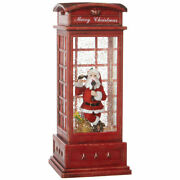 Raz Imports Santa In Musical Lighted Water Booth 10