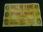 Ted Williams Hall Of Fame I Inducted July 1966 Poster Super Rare Item See Pics