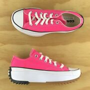 Converse Run Star Hike Low Top Platform Pink White Womens Shoes 170442c Size