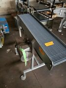Stainless Steel 10.5 X 46 Washdown Conveyor With Plastic Belt 208-230v 3phase