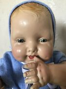 Big Beautiful Antique Vintage Composition Baby Doll .