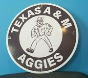 Vintage Texas A And M Porcelain Aggies Football College Sports Stadium Store Sign