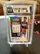Anthony Edwards 2020-21 Panini Contenders Rookie Auto Premium Silver 9.5/10
