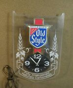 Vintage Old Style Beer Wall Clock W Light Bar Sign Man Cave Decor Working