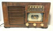 Zenith Vintage 1941 Radio Broadcast And Shortwave Wood Box, Model 6s527 As Is