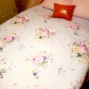 Shabby Cottage Chic Floral Duvet Cover Full /queen