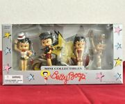 Betty Boop Mini Collectibles Set Toy Figure With Box Shipped From Japan