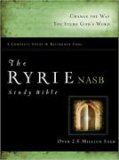 The Ryrie Nas Study Bible Hardcover Red Letter New American Standard 1995 Ed...