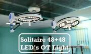 Double Dome Led Surgical Light Operation Theater Or Lamp Solitaire 48 + 48