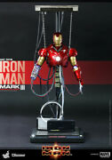 In Stock Hot Toys 1/6 Iron Man Mark 3 Mk Iii Construction Version Diorama Ds003