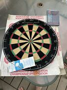 Abercrombie And Fitch Bristle Dart Board Made In England W/ Booklet With Darts