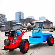 Childrenand039s Walk-behind Tractor Electric Toy Car Can Sit On Dual-drive Four-wheel