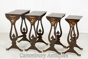 Nest Of Tables - Antique Chinoiserie Quartet Sided Table