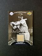 Rare 2007 Sweet Spot Classic Lou Gehrig Jersey Relic Ssp