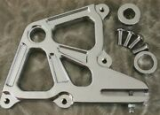 Chrome Dual Rear Caliper Bracket Mount For Harley Fxst 1987/1999 And Customs