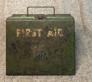 Antique Vintage 1921 Illinois Bell Telephone Co. First Aid Kit With Contents Box