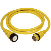 Marinco 6153spp 50a 125v Shore Power Cable 50and039 Yellow