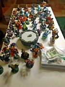 Skylander Lot 62 Pieces With Portal 2 Wii Games And Codes