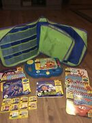 Leap Frog My First Leap Pad Learning System Lot 10 Books And Cartridges Carry Case