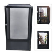 New Ventilation Pet Reptile Breeding Box Insect Cage Box Feeding Tank With Lock