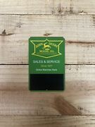 John Deere Tin Farm Tractor Implement Die Cut Match Striker Sign Country Store