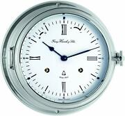 Bell Clock Ship Clockporthole Clock Mechanical With Chime Nickel Plated