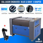 Omtech 60w 20 X 28 Inch Co2 Laser Engraver Engraving Machine With Rotary Axis C