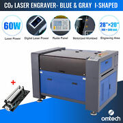 Omtech 60w 20 X 28 Inch Co2 Laser Engraver Engraving Machine With Rotary Axis A