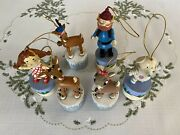 Rudolph The Red Nosed Reindeer Push-up Puppet Ornaments 6 Pcs Free Shipping