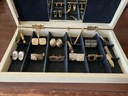 Vintage Lot Of Cuff Links Tie Clips - Swank Pat. 2.974.33 And Unbranded