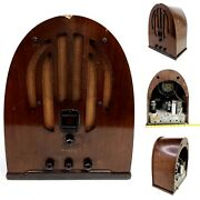 For Repair Vintage Philco Cathedral Tube Radio Model 60 37-60 Wood Antique 1930s