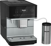 Miele Cm 6350 Freestanding Coffee Machine Wth Onetouch For Two In Obsidian Black