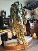 U.s Marine Corp. Camouflage Uniform And Cover Authentic Ww11 Pacific Theater