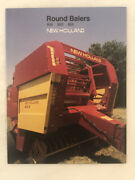 1986 Ford New Holland Round Baler Tractor Brochure Vintage Farm Advertising
