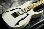 Used Ibanez Pgm301-wh Paul Gilbert Signature Model White Free Shipping