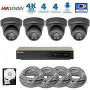 Hikvision 4k Nvr 8mp Audio Poe Ip Security Cctv Color Night Vision Camera System