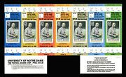Complete Set 1988 Notre Dame Full Football Tickets Catholics Versus Convicts 7