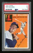 1954 Topps 1 Ted Williams Psa 5 Recently Graded Very Strong Card