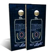 Miller Lite Neon Beer Cornhole Boards - The Perfect Christmas Gift
