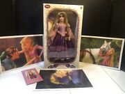 Disney Store Limited Edition 17 Rapunzel Tangled 1/5000 Nrfb W Lithographs