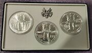 1984 Olympic Silver Dollars 1 Mints P D S 3 Coins Collector Set Uncirculated
