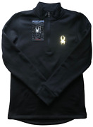 Spyder Quarter Zip Jacket Men's Size M Black New With Tags - Free Shipping